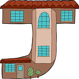 "Isolated ""J"" Town House"