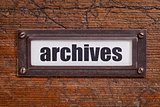 archives  tag - file cabinet label