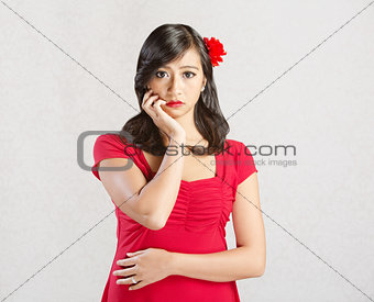 Woman with Blank Stare