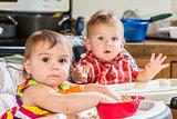 Babies Eat Breakfast