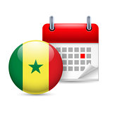 Icon of National Day in Senegal
