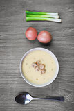 fresh creamy potato soup