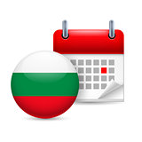 Icon of National Day in Bulgaria