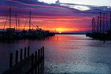 Harbor at sunset