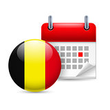 Icon of National Day in Belgium