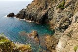 Cliffs in Bonassola - Liguria - Italy