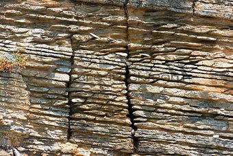 Layered Sedimentary Rock - Liguria Italy