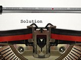 Typewriter with Solution Word