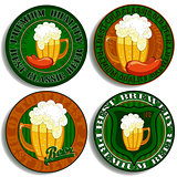 set of beer tags
