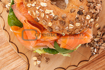 Culinary bagel eating.
