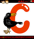 letter c for crow cartoon illustration