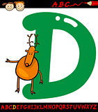 letter d for deer cartoon illustration