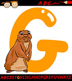 letter g for gopher cartoon illustration