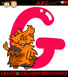 letter g for guinea pig cartoon illustration