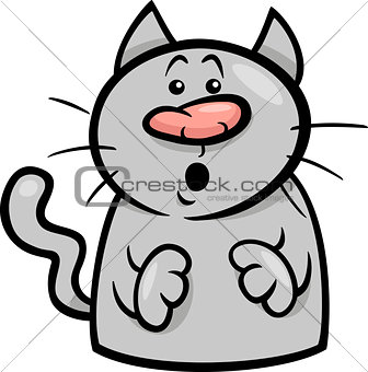mood surprised cat cartoon illustration