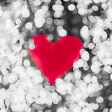 Shiny heart bokeh light Valentine's day background