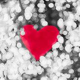 Shiny heart bokeh light Valentine's day background