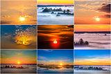 Sunrise and sunset.
