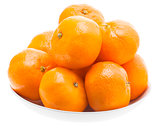 Tasty Sweet Tangerine Orange Mandarin Mandarine Fruit In White P