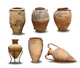 Antique and Minoan vase collection