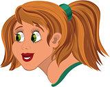 Cartoon girl head