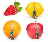 zipper fruits and pills