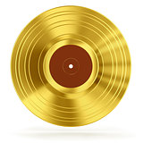 gold vinyl with retro sign - 3D render