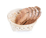 Slices of white bread in basket