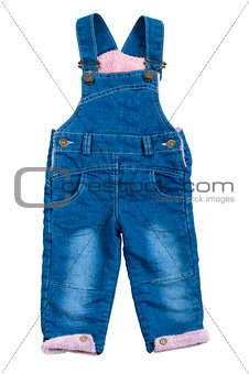 Baby overalls  isolated on white background
