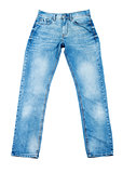 Close up of blue jeans