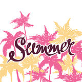 bright summer hand drawn background, vector illustration