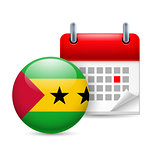 Icon of National Day in Sao Tome and Principe