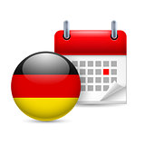 Icon of National Day in Germany