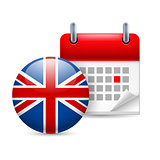 Icon of National Day in Great Britain