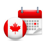 Icon of National Day in Canada