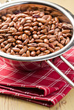 red beans in colander