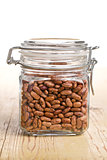 red beans in glass jar