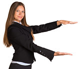 Businesswoman holding anything