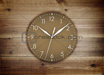 Clock face with white figures