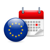 Icon of EU flag and calendar