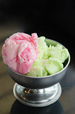 two color ice cream