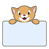Cartoon Banner Cat