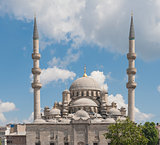 Large mosque against blue sky
