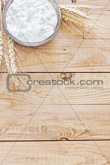 Cottage cheese and grains background