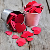Hearts in buckets