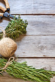 Rosemary and thyme background