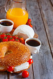 Israelian breakfast background