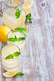 Mint lemonade background