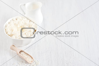 Rice porridge background