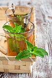 Turlish tea with mint